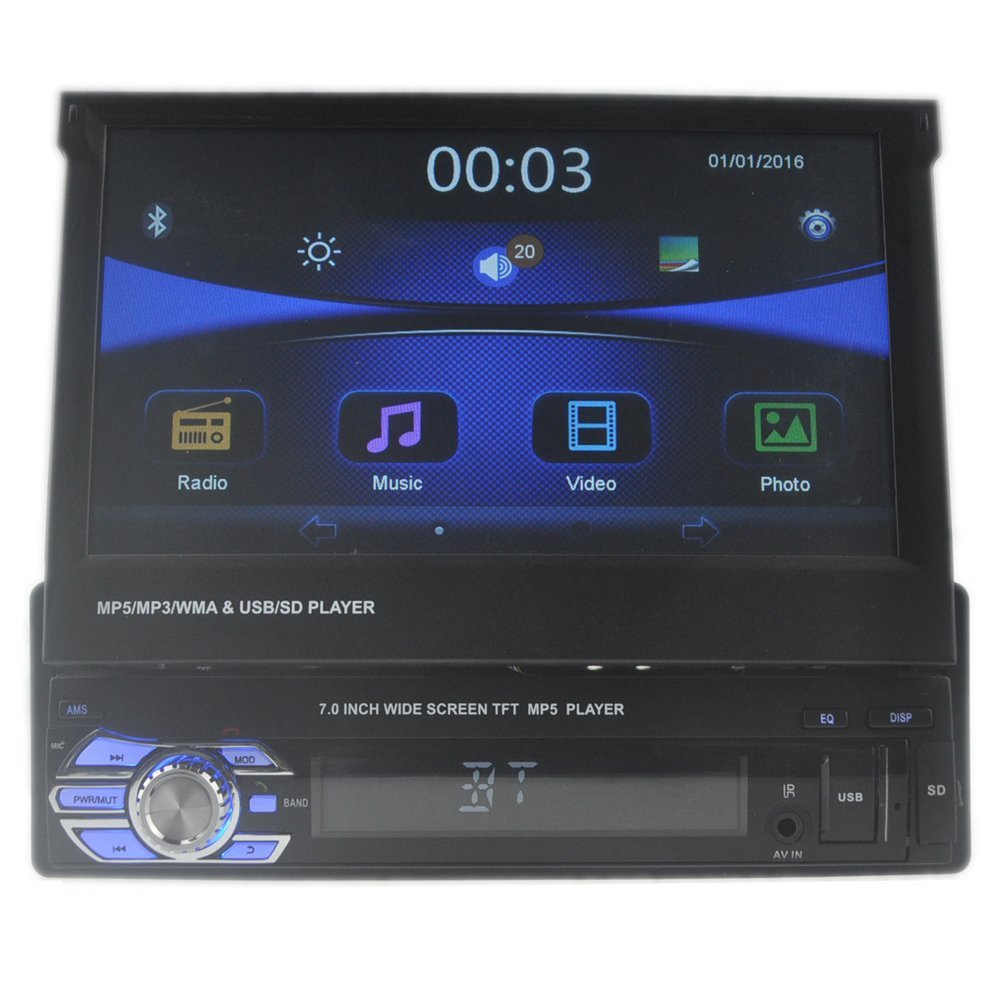 Eaglerich 1 Din 7-Zoll-LCD-Touch-Screen-Auto-Radio-Player ...
