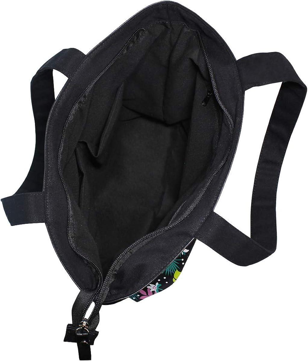 Tropical Fashion Textile Pattern Casual Style Lightweight Canvas Backpack School Bag Handbag Work Bag Shoulder Handbag Travel Bag