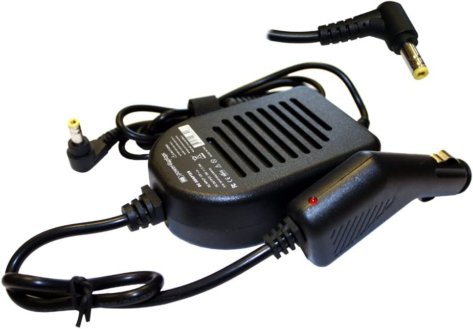 Power4Laptops Car Charger for Toshiba Satellite C655D-S5200, Toshiba Satellite C655D-S5202, Toshiba Satellite C655D-S5209, Toshiba Satellite C655D-S5210, Toshiba Satellite C655D-S5226