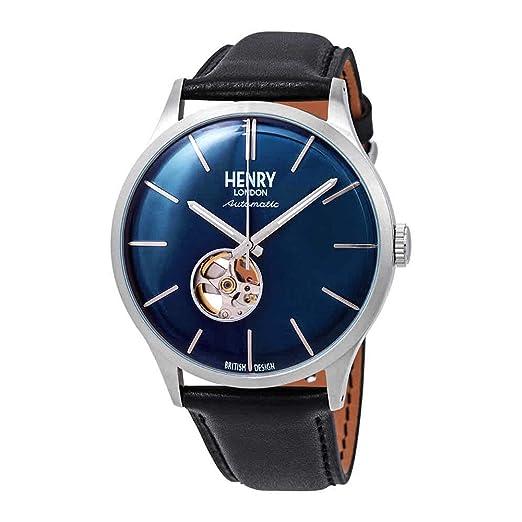 Henry London Heritage HL42-AS-0315 - Reloj automático para Hombre con Esfera Blanca y Esqueleto: Amazon.es: Relojes