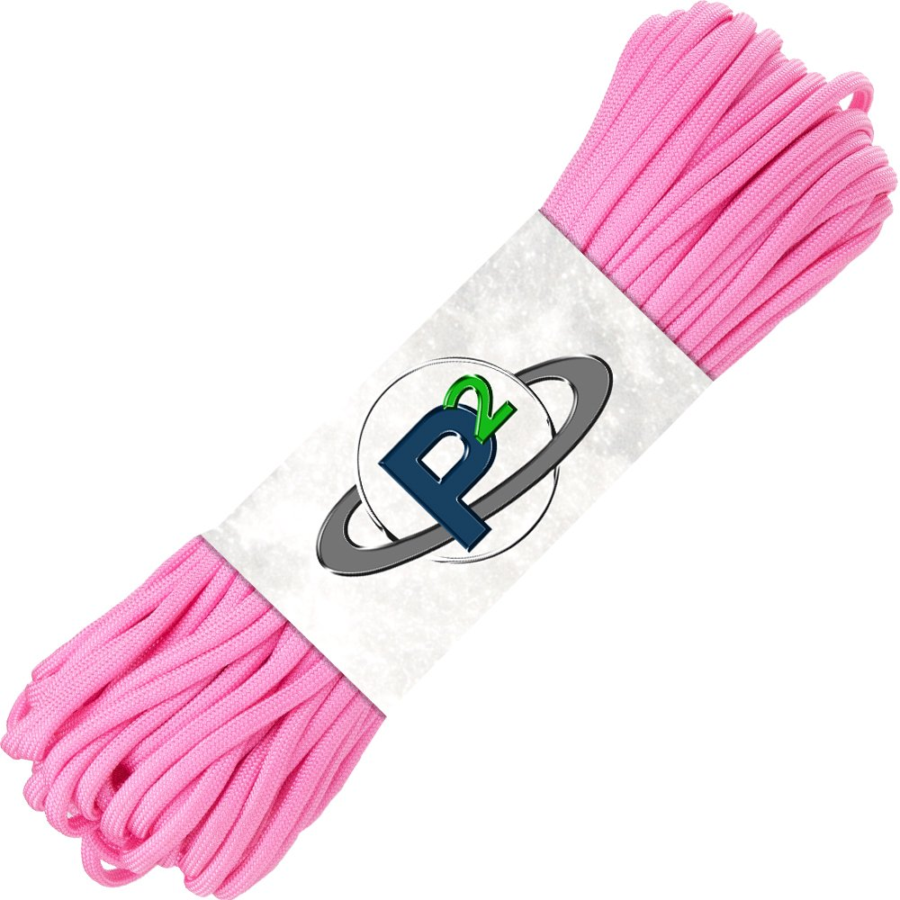 PARACORD PLANET Mil-Spec Commercial Grade 550lb Type III Nylon Paracord 10 feet Rose Pink