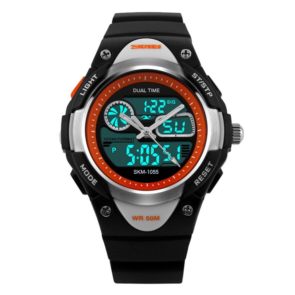 e0fdcf0cad04 amstt Unisex Deportes Niños Relojes Niño Niña digital impermeable alarma  reloj de pulsera para el Edad 7 - 15 Años Niños (Negro)  Amazon.es  Relojes