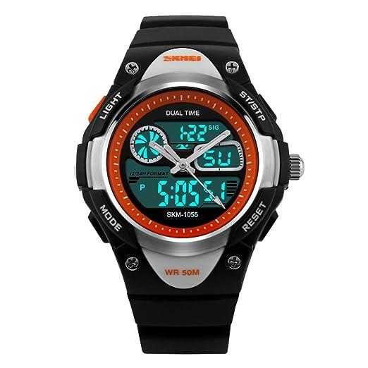 amstt Unisex Deportes Niños Relojes Niño Niña digital impermeable alarma reloj de pulsera para el Edad