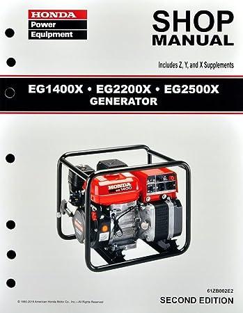 amazon com honda eg1400 eg2200 eg2500 generator service repair rh amazon com Honda 3000 Generator Honda Generator EU3000iS