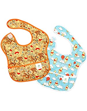 Bumkins Disney Baby Waterproof SuperBib 2 Pack, Winnie the Pooh (Woods/Balloon) (6-24 Months)!