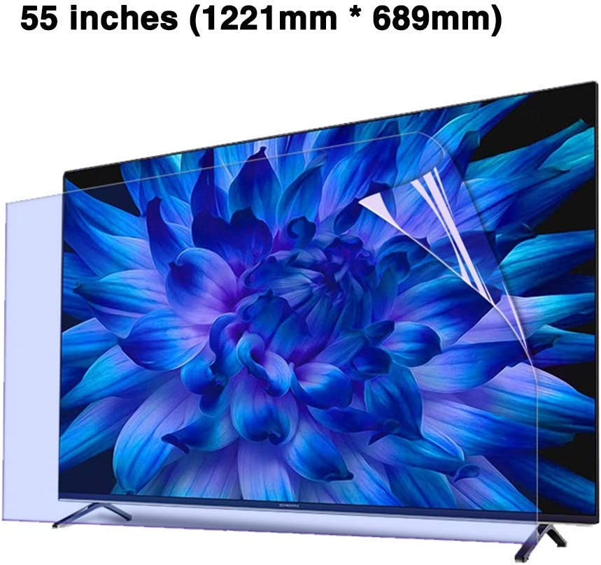 CUUYQ 55 Inches TV Screen Protector OLED /& QLED 4K HDTV,B Non-Glare Ultra-Clear Protector Film Anti-Blue Light Anti-Scratch Eye Protection for LCD LED