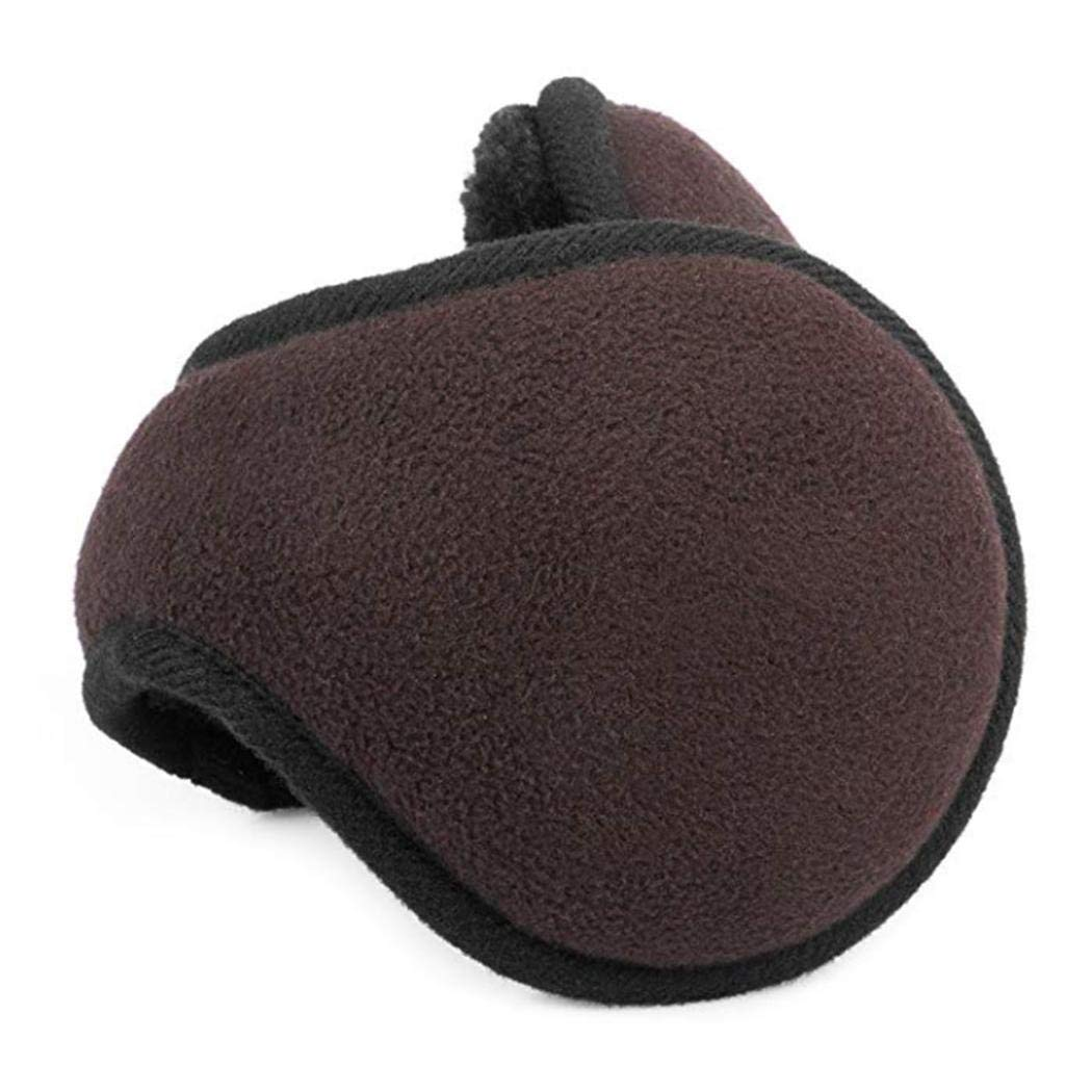 eubell Unisex Foldable Ear Warmers Polar Fleece/kints Winter EarMuffs Coffee by eubell (Image #4)
