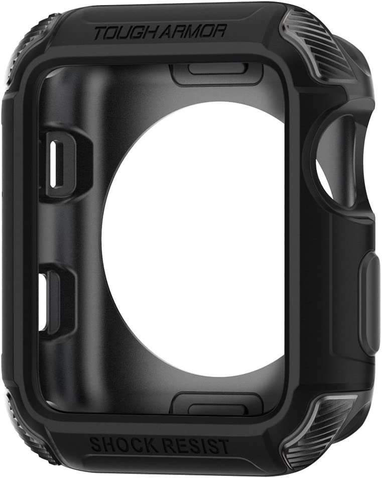 Spigen Tough Armor [2nd Generation] Designed for Apple Watch Case for 42mm Series 3 / Series 2 / Series 1 - Black