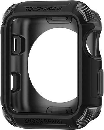 Spigen Tough Armor Kompatibel Mit Apple Watch Hülle Für 42mm Serie 3 Serie 2 1 Original 2015 Schwarz Elektronik