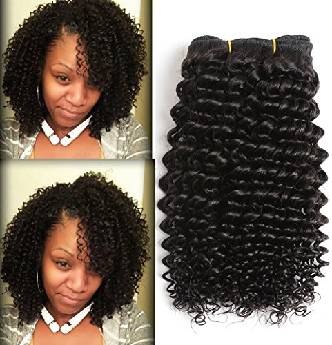 Cheap 10A Kinky Curly Virgin Hair 100% Unprocessed Brazilian Virgin Human Hair Weave 12 inch Curly Hair Extensions 3 Bundles 300g/set Natural Black Brazilian Curly Hair
