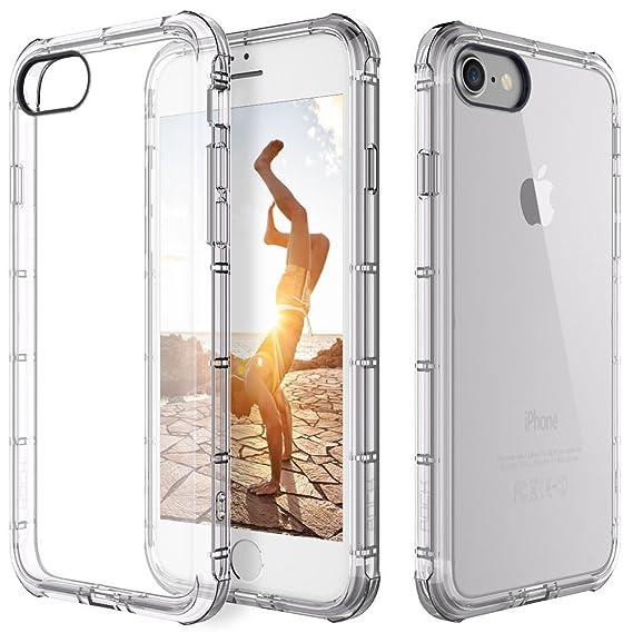 timeless design 581b4 7e3ff Amazon.com: For Apple iPhone 7/8 Case Clear Hybrid Slim Shockproof ...