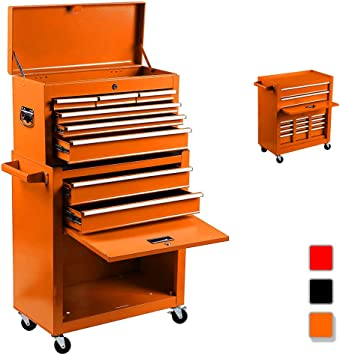 Caja de herramientas portátil 2 en 1 con 4 ruedas, caja de ...