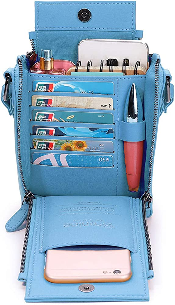Brenice Women Solid Phone Bag 6 Card Holder Crossbody Bag