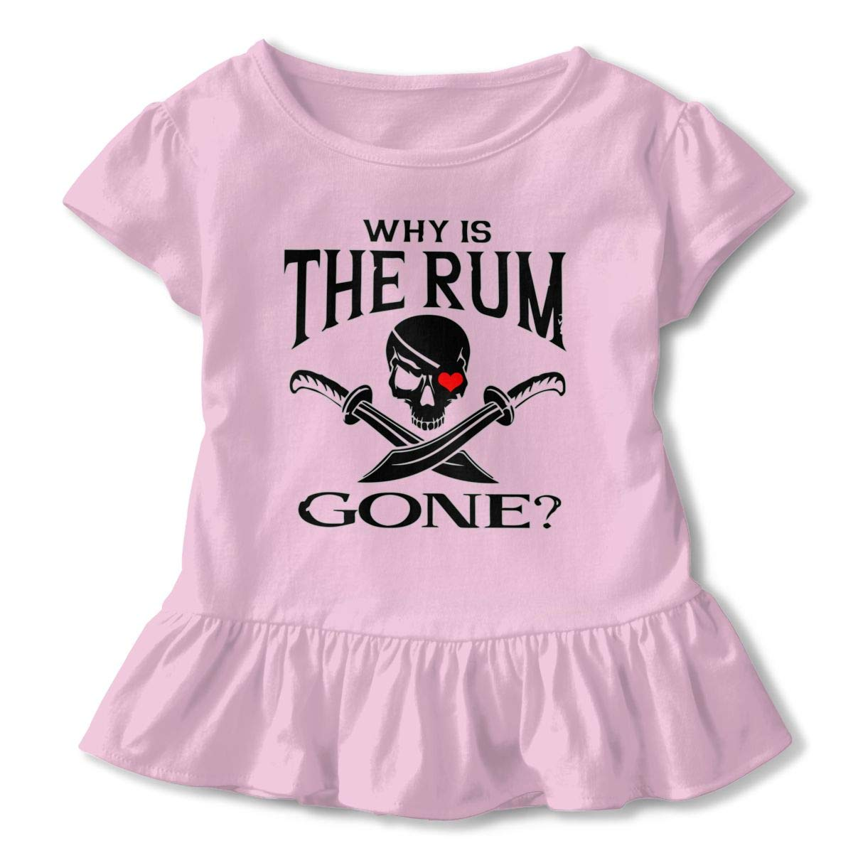 Benunit Why is The Rum Gone Pirate Baby Girls Summer Dress Outfits Ruffle Short T-Shirt Romper Dress,One-Piece Jumpsuit