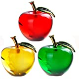 Waltz&F Crystal Apple Paperweight Craft Decoration (Three Sets)