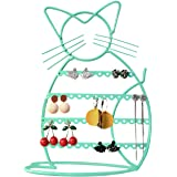 Urban Deco Earring Holder Stand/Earring Display/Earring Holder for Girls in Cat Shape (Jade)