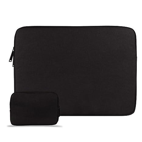 CLOUDSTOO 15-15.6 Pulgadas Funda para MacBook Pro/Notebook, con un Bolso Extra, Impermeable Ordenador Portátil Funda, Laptop Manga Bolsa, Negro