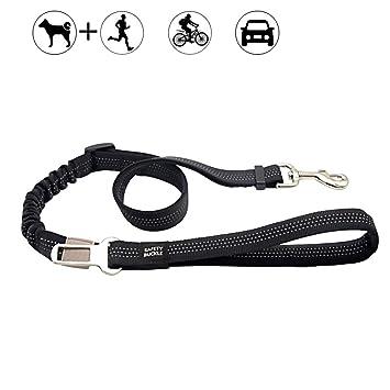 Correa Para Perros con Longitud Ajustable - Cinturón de Seguridad del Coche para Mascota - retráctil elasticidad tela de nylon reflectante - para gato ...