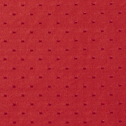 Red Suede Contemporary Upholstery Fabric By The Yard | Embroidered Dots | Pattern #: B155 Contemporary Suede Sofa