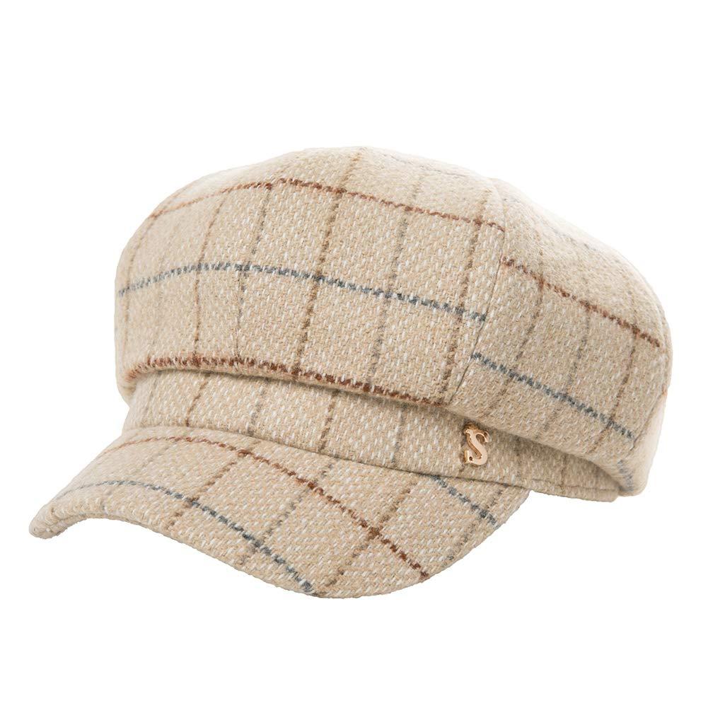 Womens Newsboy Cap Greek Fisherman Conductor Gatsby Hat Beret Winter Fall 55-60cm Fancet