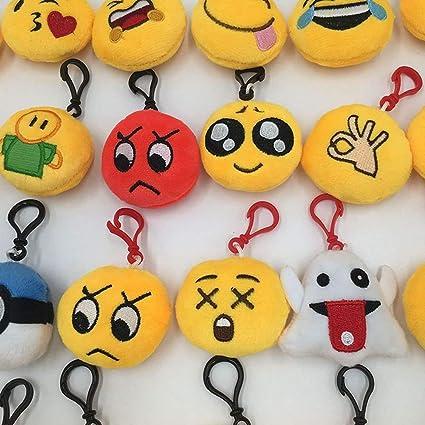 Goodup - Llaveros para niños, diseño de emoticonos y emoticonos, Ideal para Regalar en Fiestas, Pack de 20: Amazon.es: Coche y moto