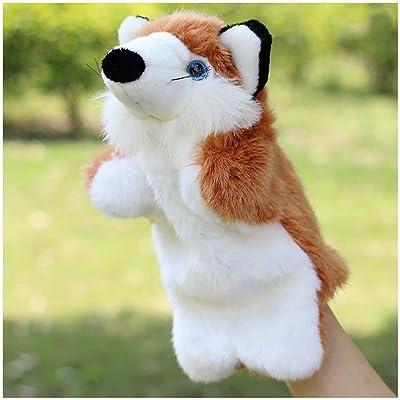 BUDIUK Marioneta Marionetas de Mano Juguetes de Peluche Animal Fox Kindergarten Story Juguetes de muñecas Suaves for niños Niños: Hogar