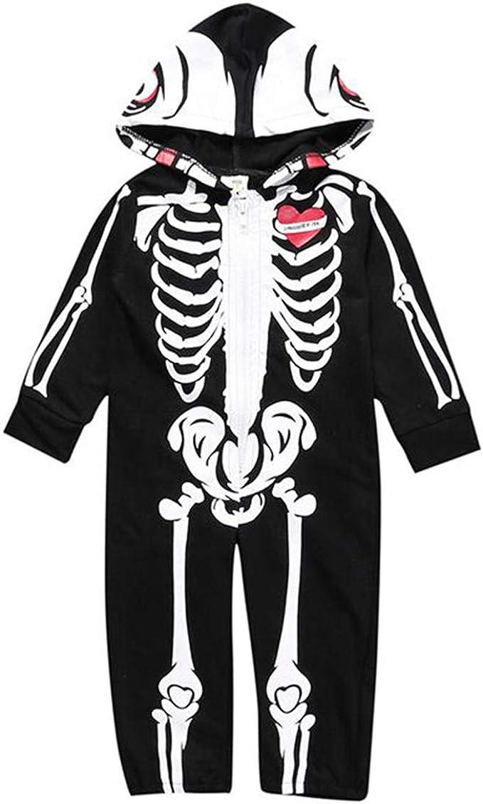 Disfraz Esqueleto Niño Calavera Mameluco Bebe Niño Body ...