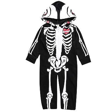 Disfraz Esqueleto Niño Calavera Mameluco Bebe Niño Body Algodon ...