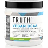 Truth Nutrition Naturally Fermented BCAA 2:1:1 Powder (Instantized) – Watermelon | 30 Servings | Plant Based, Non-GMO, Gluten Free | Branched Chain Amino Acids | Pre/Post Workout Supplement