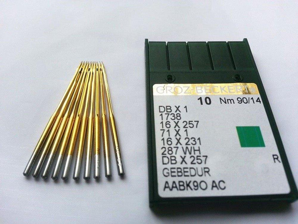 Groz-beckert Db1 Dbx1 1738 Titanium Plated 90//14 Industrial Sewing Needle 20pcs