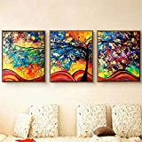 BFY Modern Huge Wall Art Oil Painting On Canvas Money Tree Unframed Room Decor 3pcs