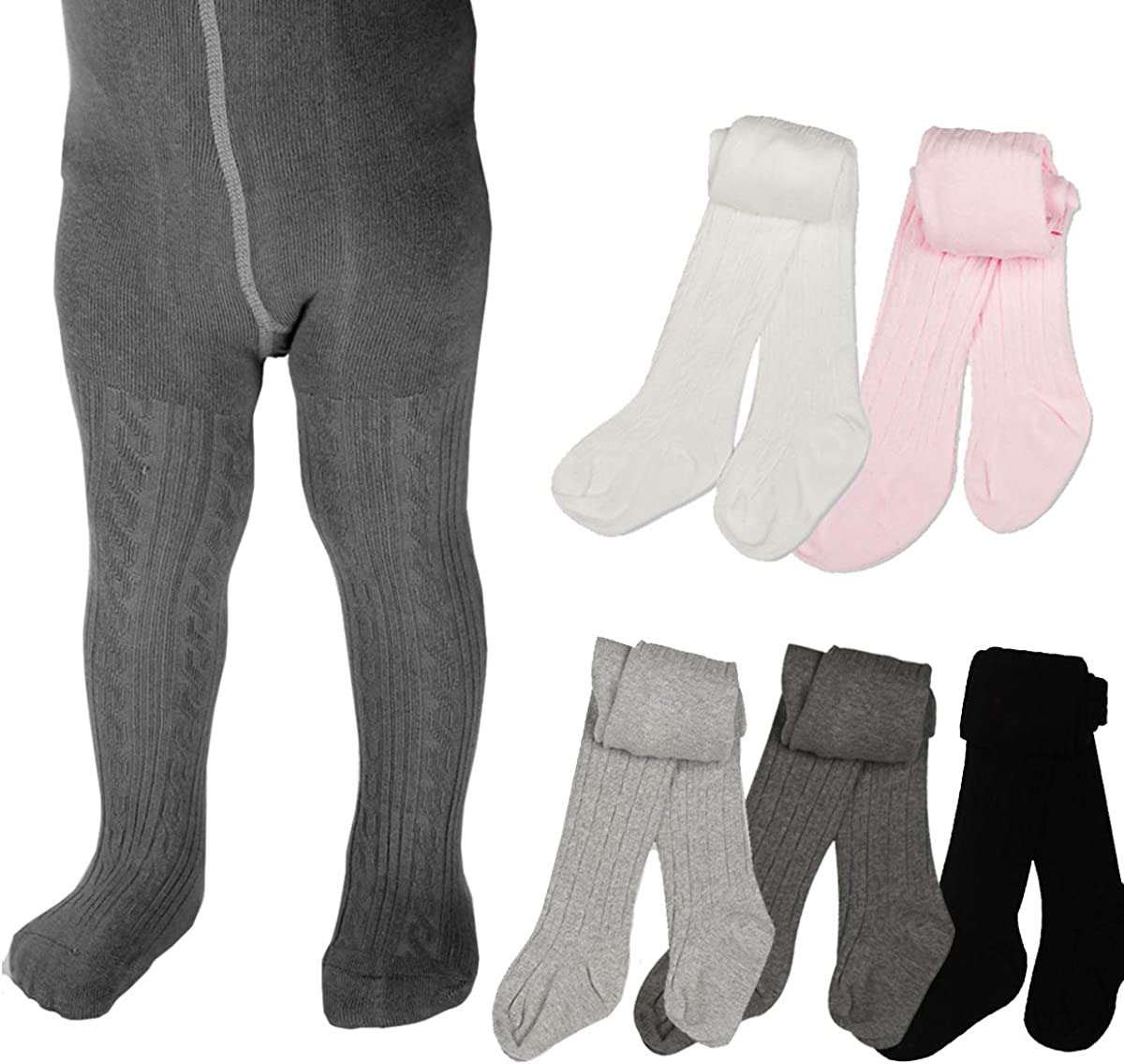 Cotton Cable Knit Leggings Stockings Basic Pantyhose for Infants Toddlers 0-4Years Merqwadd Baby Girls Tights