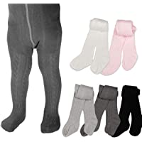 Baby Toddler Girls Tights 3 Pack Knit Cotton Leggings Pants for Infant Girl Stockings