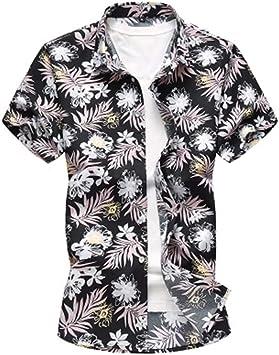 GXLO Hombre Camisa Hawaiana Manga Corta Playa Vacaciones Verano Disfraces: Amazon.es: Deportes y aire libre