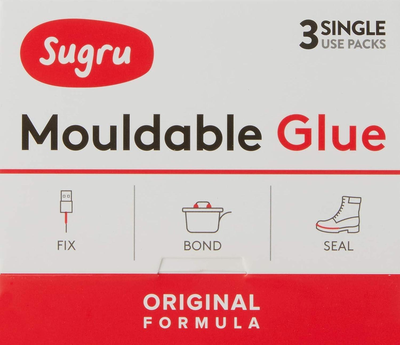 Sugru Pegamento Moldeable - Formula Original - Negro, Blanco y Rojo (3-paquete) FormFormForm Ltd SMLT3