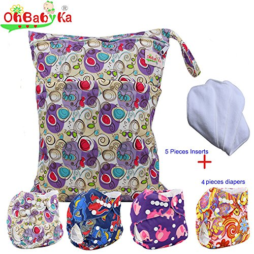 baby-reuseable-nappy-diapers-4pcs-inserts-5pcs1-wet-dry-bag-by-ohbabyka