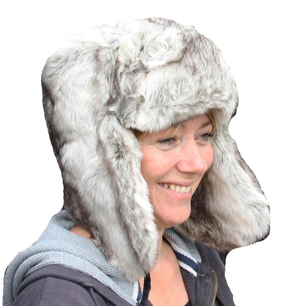 Socks Uwear Mens Womens Faux Fur Trapper Warm Winter Thermal Hat AW109 59cm Silver