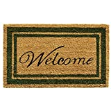 Home & More Border Welcome Doormat 18″ x 30″ (Sage Green) For Sale