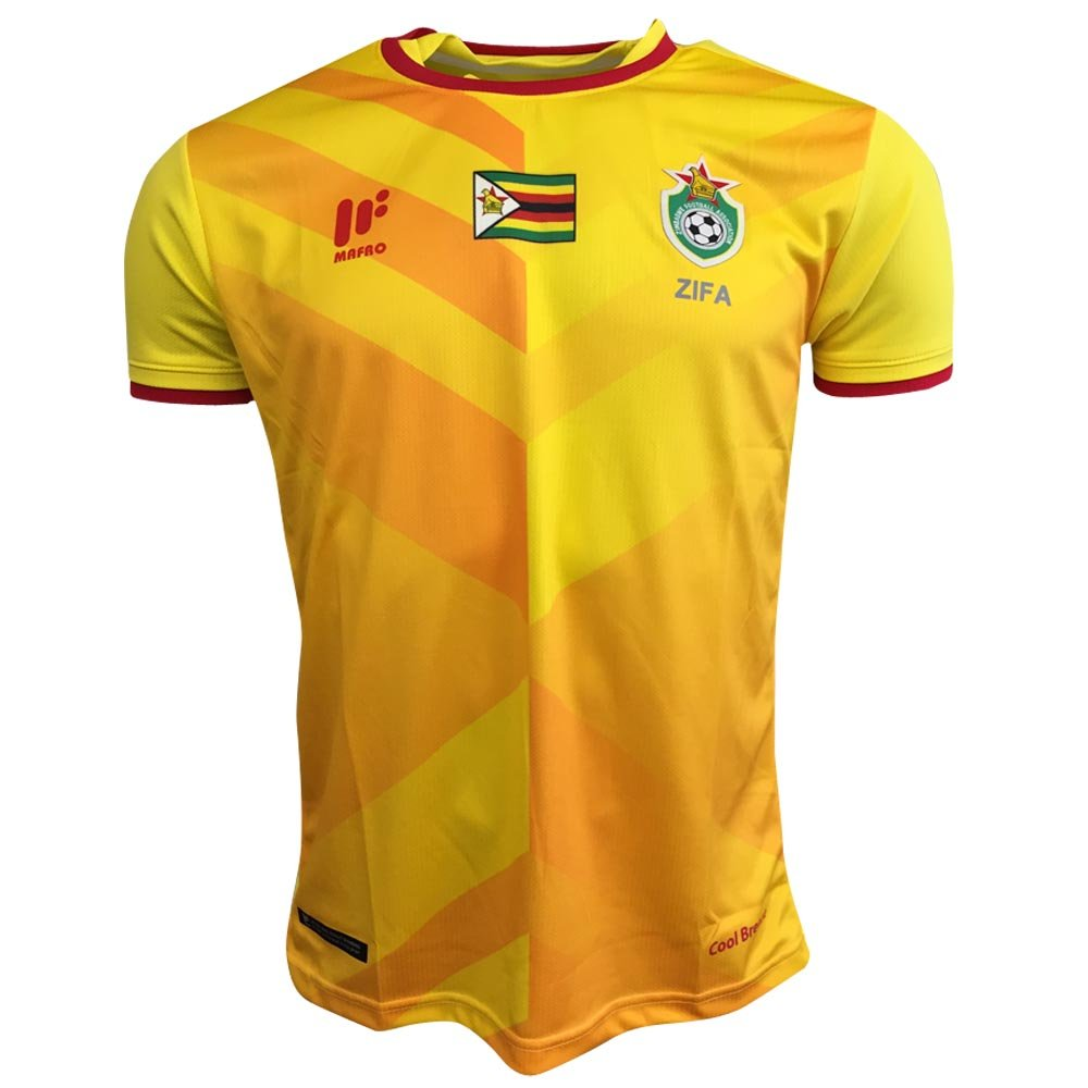 Mafro Sports 2017-2018 Zimbabwe Away Football Soccer T-Shirt Trikot