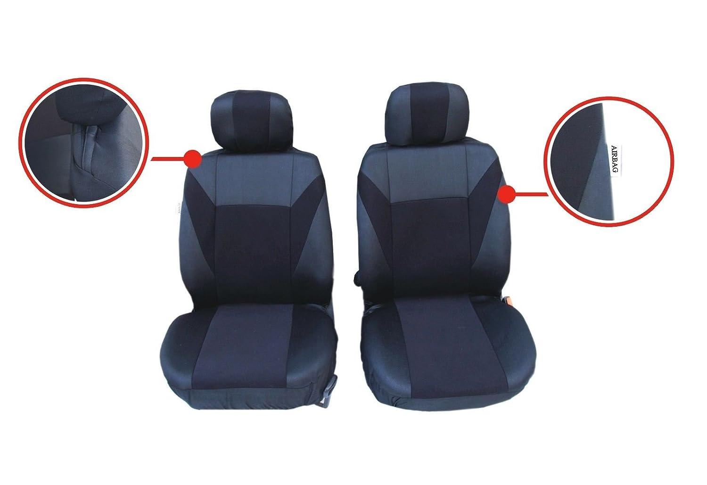 2 vordere Auto Sitzbezug Sitzbez/üge Schonbez/üge Schonbezug Einteilig Grau Polyester Neu