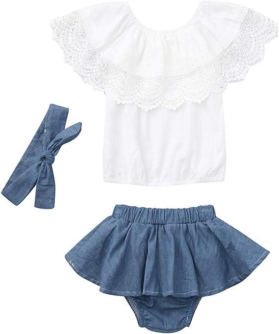 Patifia - Conjunto de ropa para bebé y niña, camiseta de ...