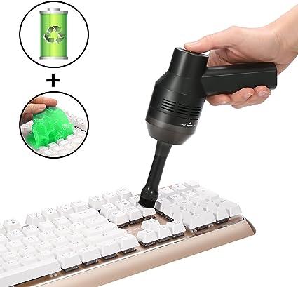 MECO Mini Aspirador de Teclado para Ordenador, Aspiradora Portátil ...