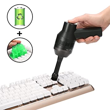 Teclado Aspiradora, Meco Cargador Batería de litio inalámbrica Vacuum Cleaner Portable Mini teclado limpiador,