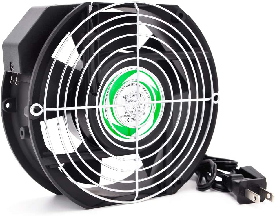 AC MDOVPD Cooling Fan, AC Axial Fan,17251, 120V AC 172mm x 150mm x 51mm 110-120V for Cooling Ventilation Exhaust Projects,with UL, CE,3C Certification