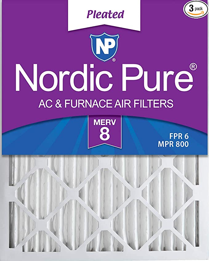 12-pack 10x20x2 MERV 10 Pleated Home A//C Furnace Air Filter