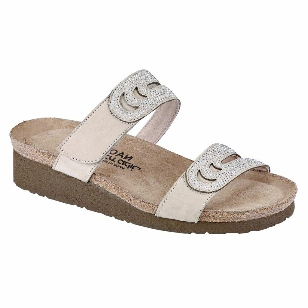 NAOT Women's Ainsley Slide Sandals, Beige, 39 EU, 8-8.5 US M