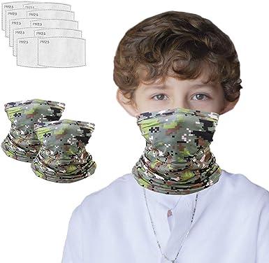 6 Pieces Kids Neck Gaiter UV Protection Face Cover Outdoor Cartoon Bandana  Kids Summer Bavaclava Fashion Scarves