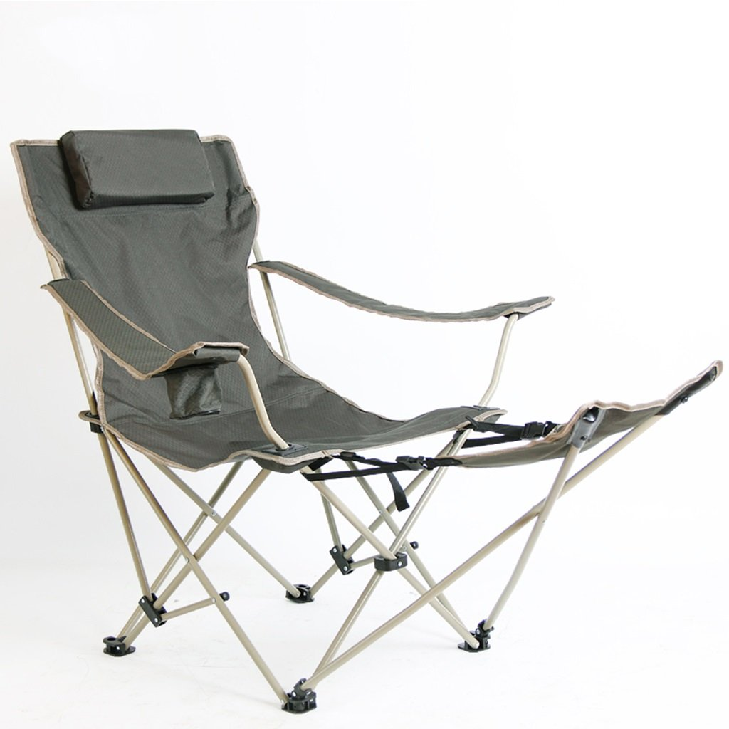 Qz Kampierende Stühle, die mit Fußauflage-Strand-Fischen im Freien Portable Seat-Metallliege-Klubsessel, Griff 120kg Falten