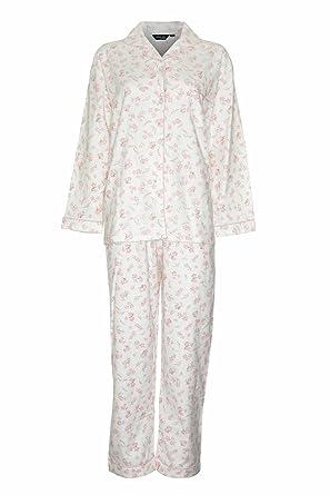 efec7300b5 New Ladies CHAMPION Floral Print Warm Wyncette Cotton Pyjama Nightwear  Sleepwear. Breast Pocket And Elasticated Waistband.r Pink 12-14   Amazon.co.uk  ...
