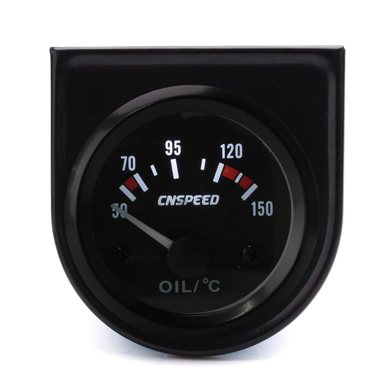 EODUDO- Odometers CNSPEED 52mm Gauge Universal 12V Oil Temp Gauge 50~150C Oil Temp Instrument with Oil Temp Sensor for Auto Marine Truck by EODUDO- Odometers